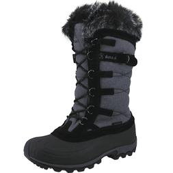 new snowvalley black winter boots waterproof women