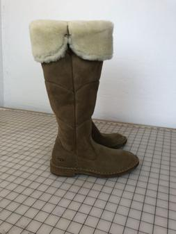 New Ugg Womens Sibley Tall Over The Knee Suede Sheepskin Boo