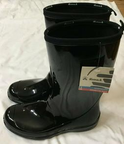 new w tag womens shiny black waterproof