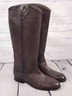 NEW - Frye Wide Calf Leather Tall Boots - Melissa Button2 -