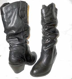 "New Women ""Top Moda"" Cindy Black Heel Mid-Calf Fashion Boots"