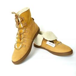 NEW Timberland Women's Dausette Fleece Fold Down Boots Wheat