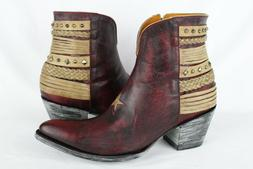 New Old Gringo Women's Hippiton Star Western Ankle Boots Red