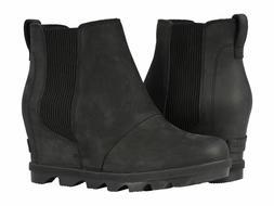 New SOREL Women's Joan of Arctic Wedge II Chelsea Boot Black