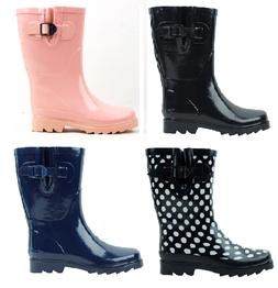 New Women's Mid-Calf Rubber Rain Boots