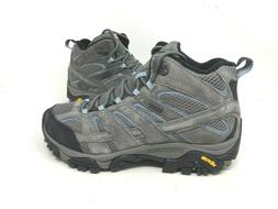 NEW! Merrell Women's Moab 2 Waterproof Hiking Boots Grey/Blu