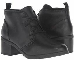 NEW Clarks Women's Nevella Harper Leather Ankle Boot Black