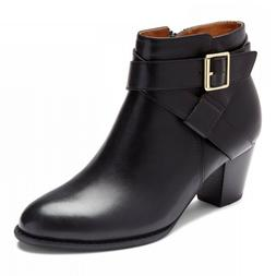 New Women's Vionic Trinity Ankle Boot Bootie w/ Orthaheel Bl