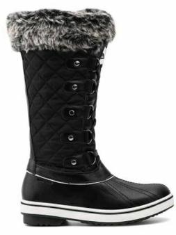 New ALEADER Women's Waterproof Lace Up Snow Boots with Faux