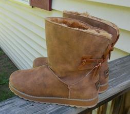 NEW SKECHERS Women's Winter Boots Size 11 Scotchgard Brown