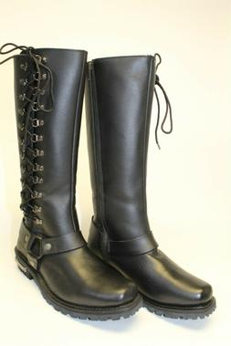 Milwaukee NEW Womens 10.5 41.5 Tall Black Leather Motorcycle
