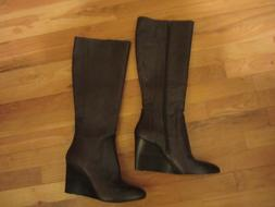 NEW WOMENS 9 NINE WEST 5 5M BROWN LEATHER BOOTS SHOES RIDING
