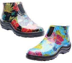 SLOGGERS Rain & Garden Ankle Boots - Midsummer Black & Blue