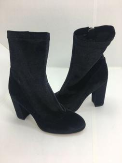 New Sam Edelman Womens Calexa Block Sock Boots Blue Velvet 5