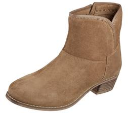 New Womens Skechers Feathers Zipper Ankle Boots Style 48699