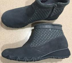 NEW WOMENS SKECHERS GRAY SUEDE LEATHER ZIP ANKLE BOOTS BOOTI