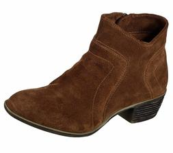 New Womens Skechers Lovely Suede Ankle Boots Style 48719 Bro