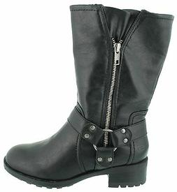 New! Skechers Womens Lunacy-Chopper Boots-Style 47887-Black