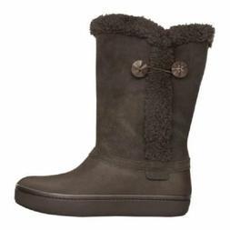 New Womens Crocs Modessa Boots Shoes SZ 5 6 7 8 Black Brown
