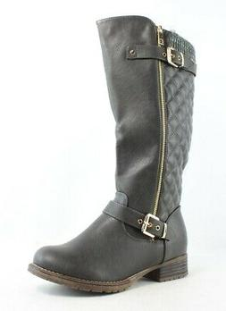 New Global Win Womens Gray Riding Boots Size 8