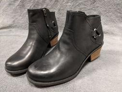 NEW Teva Womens WATERPROOF Foxy Dos Black Ankle Leather Boot