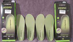 NIB! PAIR SUPERFEET Premium Green Insoles Inserts Orthotics