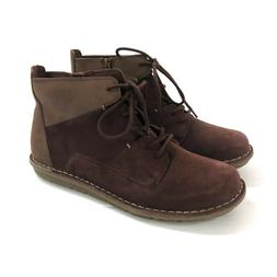 NIB CLARKS Womans Tamitha Key Mahogany Leather & Suede Low A