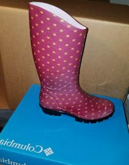 NIB Columbia Women's Rainey Tall Rain Boot - Rocket, Bling