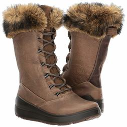 ECCO Women's Noyce Tall Snow Boot Birch/Coffee 40 EU / 9-9.5