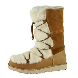 Birkenstock Nuuk Suede Leather/Fur Boots Nut 37