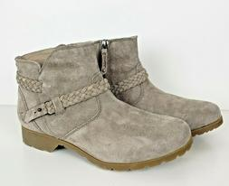 NWOB Teva Womens Delavina WP Suede Ankle Boots Desert Taupe