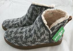 NWT! Sanuk Nice Bootah Faux Shearling Boots Ankle Bootie Gra