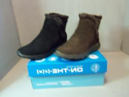 Skechers On-The-Go 400 Cozies Women's Suede Ankle Boots #143