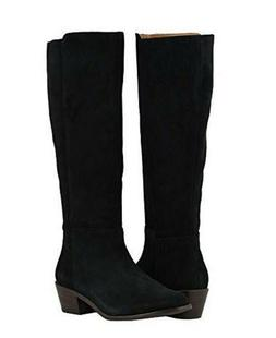 Vionic Orthaheel JOY TINSLEY Suede Knee High Tall Boots BLAC