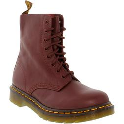 Dr. Martens Women's Pascal Cherry Red Ankle-High Leather Boo