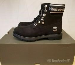 Timberland Pemium Black/ White Waterproof Winter Boots Shoes