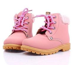 Pink Casual Padded Shaft Ankle High Lace Up Womens Combat Bo