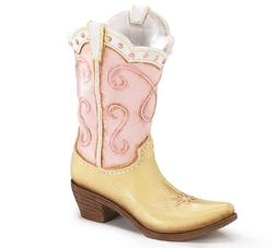 Pink Ladies Cowboy Cowgirl Boot Vase - Great Western Country