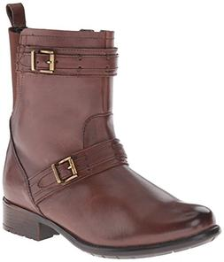 Clarks Women's Plaza City Riding Boot, Brown Leather, 6.5 M