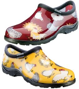 SLOGGERS Rain & Garden Shoes - Daffodil Yellow & Barn Red Ch