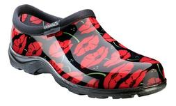 Sloggers Red Poppies Waterproof Garden Women's Shoes