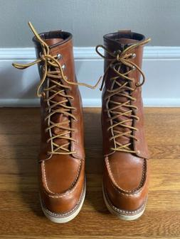 Red Wing Women's 8-Inch Heritage Moc Boots Size 8 in Oro Bro