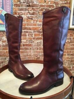 Frye Redwood Brown Leather Melissa Button 2 Riding Boots 8 S