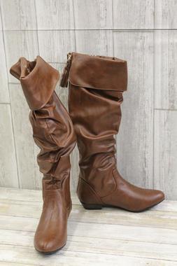 3e872ac16c10b Fergalicious Rookie Slouch Boot - Women's Size 6M, Cognac ~N