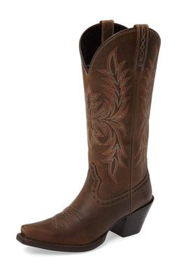 Women's Ariat Round Up Maddox Western Boot, Size 9 M - Brown