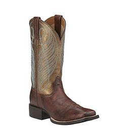 Ariat Women's Round Up Wide Square Toe Western Cowboy Boot,