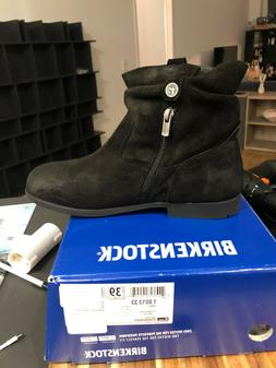 Birkenstock Sarnia Black Suede Boots Women Size 40