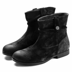 BIRKENSTOCK SARNIA BLACK WOMEN'S BOOTS SUEDE LEATHER ANKLE B