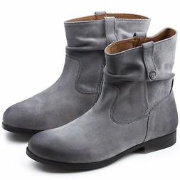 BIRKENSTOCK SARNIA GREY WOMEN'S BOOTS SUEDE LEATHER ANKLE BO