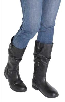 BIRKENSTOCK Sarnia High Boots Black Leather sz 38/7 New